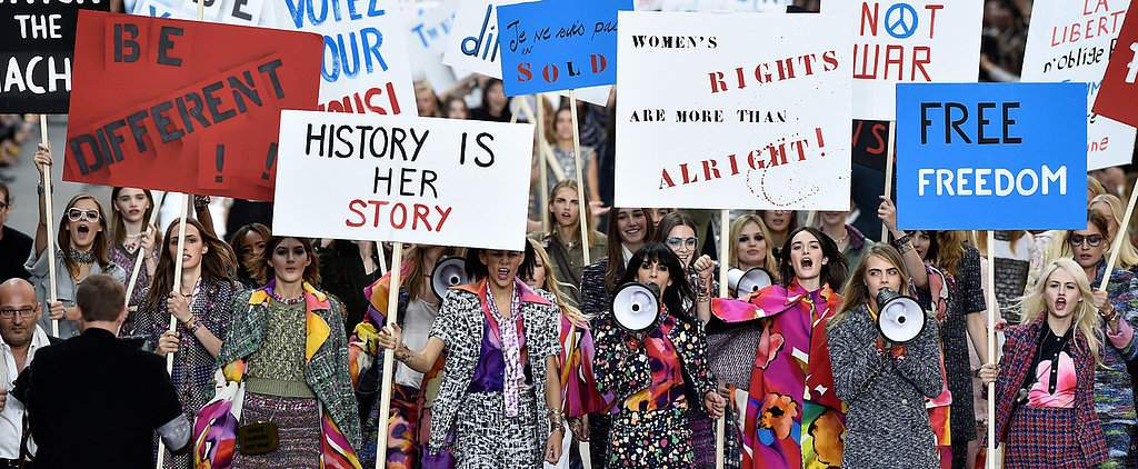 Karl-Lagerfeld-Put-Ladies-First-Politically-Charged-Chanel-Show