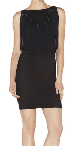Black dress with Fringe Collection 2015 2016