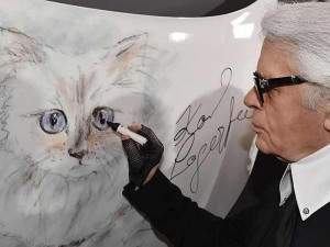 Drawing of Choupette by Karl Lagerfeld