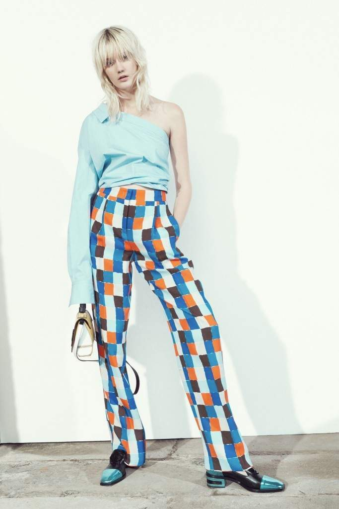 Blue and Orange Checked Pattern Pants Emilio Pucci 2016
