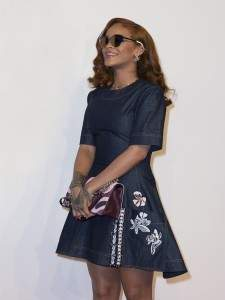 Rihanna in a total look Dior Fall/Winter 2015/2016