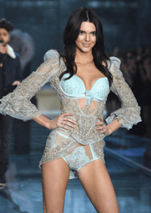 Kendall Jenner during the Victoria Secret show