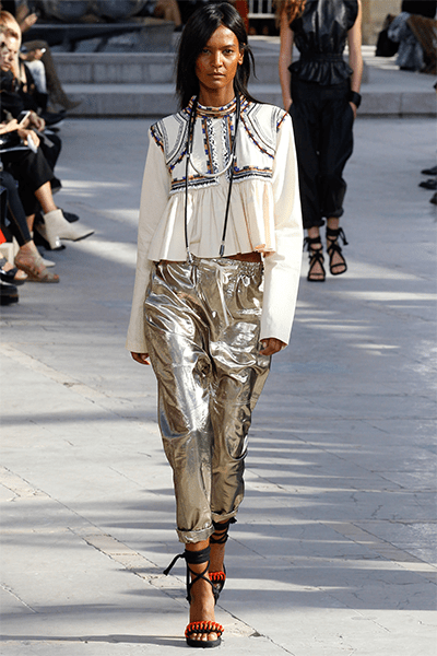 Isabel Marant used the silvery touch during her Spring and Summer fashion show