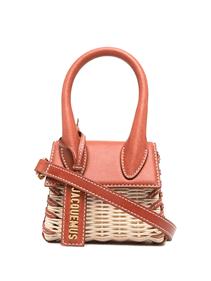 Jacquemus mini sac à main Le Chiquito.  Mini sac en cuir (100%) et rotin