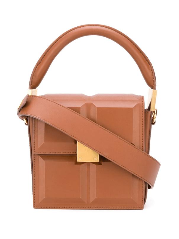 Mini sac Chocolat de Balmain